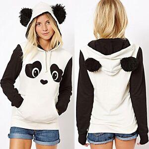 new product 7334d 1cfc1 Details zu Damen Frau Kapuzen Pullover Hoodie Sweatshirt Schicke Panda  Jacke Mit Ohren Tops