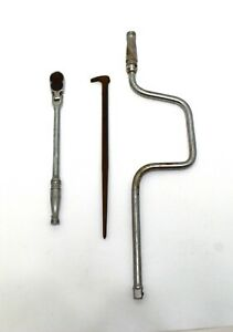 Lot-of-3-Snap-On-Tools-Speeder-Handle-S4-Flex-Ratchet-3-8-f731-Pry-Bar-1250