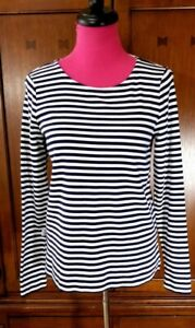 Vineyard-Vines-T-Shirt-Top-Size-S-Womens-Blue-White-Striped-Long-Sleeve