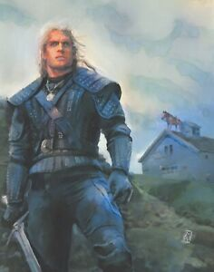 PRINT-Witcher-3-Video-Game-Roach-on-a-House-Bug-Geralt-Cavill-Painting-Wall-Art
