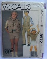 The Gap Mccall's 8972 Childs Unisex Sewing Pattern Size S 1984