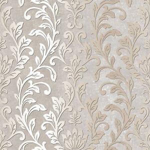 Fougueux Tx34844-texture Style Floral Feuillage Beige Gris Blanc Galerie Papier Peint-afficher Le Titre D'origine