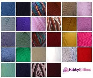 Woolcraft-New-Fashion-Chunky-amp-New-Fashion-Indigo-Knitting-Wool-Yarn-100g-Balls