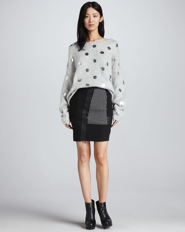 ELIZABETH AND JAMES Hastings Coated Patchwork Skirt Größe 2 NWT  355