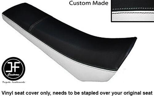 BLACK /& WHITE VINYL CUSTOM FITS DERBI SENDA SM 50 02-10 FRONT SEAT COVER ONLY