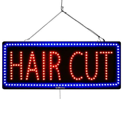 "/""HAIR CUT/"" Large LED Window Hair Salon Sign"