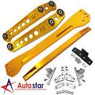 Gold Rear Lower Control Arm&Subframe Brace&Tie Bar Kit For 96-00 Honda Civic EK