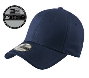 New-Era-39Thirty-Blank-Stretch-Cotton-fitted-Navy-Hat-Cap-NE1000-Free-Shipping