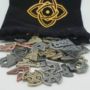 Details about NUMENERA SHINS COIN SET metal tokens tabletop RPG Monte Cook  Campaign Coins