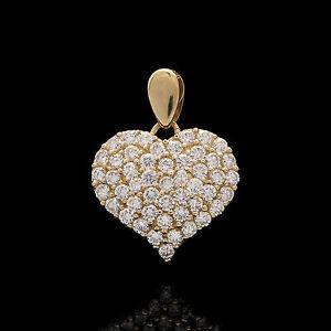 1-00tcw-Brilliant-Round-Created-Diamond-Pave-Heart-Pendant-14k-Yellow-Gold-Charm