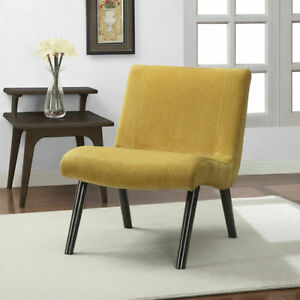 Mid Century Modern Chair Retro Vintage Mustard Butter Yellow Accent