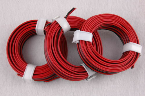 [0,5266 €/M] jumelle lacet rouge/noir 3 x 5 m-Neuf -