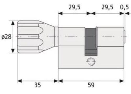 ABUS EC660 Türzylinder Knaufzylinder 45//45K mm SKG** Länge