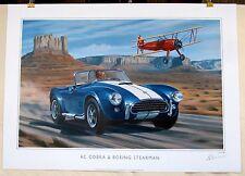 A C Cobra & Boeing Stearman - Tribute to American Dream LE Print PRICE REDUCED!