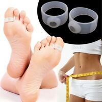 Magnetic Toe Ring Slimming Weight Loss Health Foot Massage 1 Pair 2 Rings