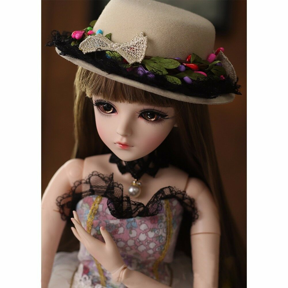 24  1 3 BJD Doll Girl Gift Free Face Make Up + Removable Eyes Wigs Clothes XMAS