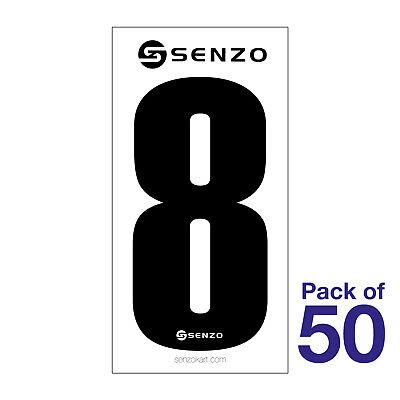 5 Nombre pack de 10 Rouge sur Jaune Senzo Go Kart KARTING Course Racing