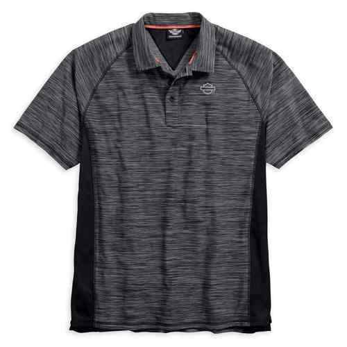 HARLEY-DAVIDSON MEN'S, TOP, PERFORMANCE MESH PANEL SHORT SLEEVE POLO SHIRT