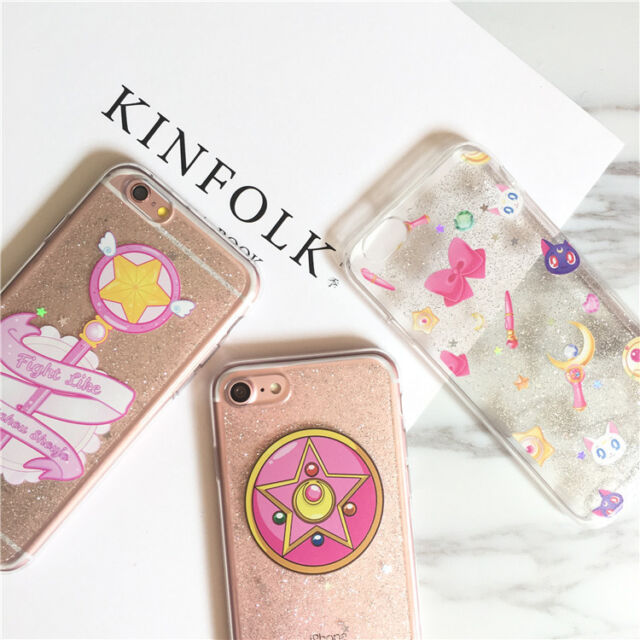 Bling Glitter Sailor Moon Magic Wand Soft Case Cover for iPhone 7 7 Plus 6 6S