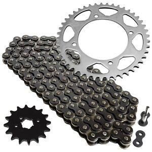 Black O-Ring Drive Chain /& Sprockets Kit Fits YAMAHA XV250 V-Star 250 2008-2016
