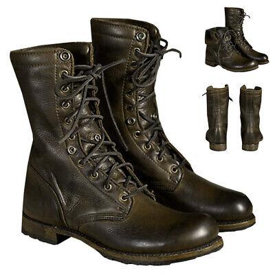 Men/'s Lace Up Boots Motorcycle Punk Combat Military Tactical Cowboy Biker Shoes
