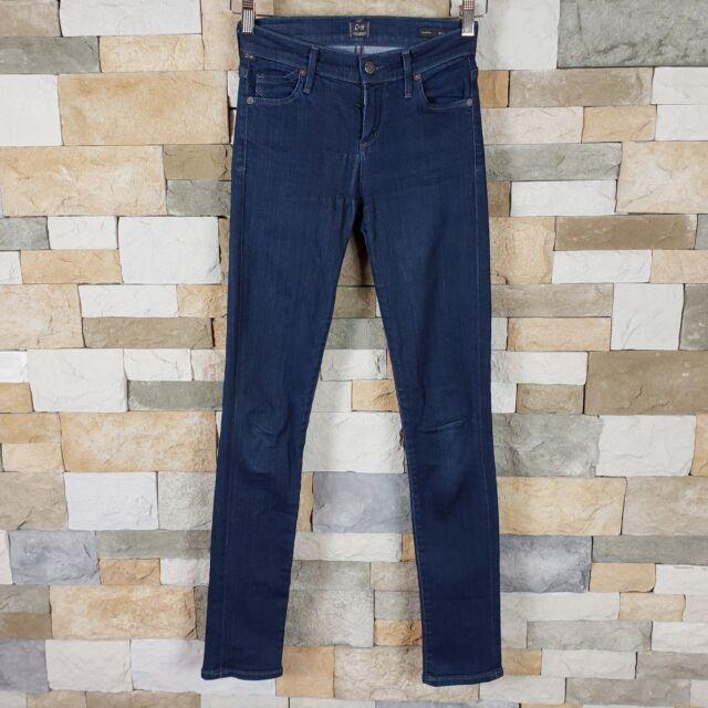 Citizens of Humanity Womens Sz 25 Avedon Skinny Denim Mid Rise Jeans Dark Wash