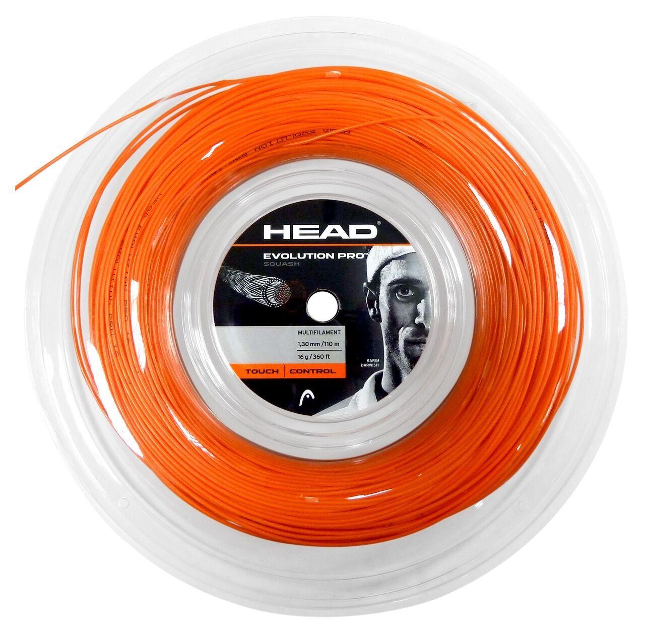 COVER Stringa HEAD EVOLUTION PRO 110m Squash Stringa COVER REEL (disponibile in arancione e nera) 0fdc2a