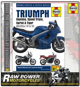 triumph t595 955i daytona 1997 2005 haynes manual 3755 ebay rh ebay co uk triumph daytona 955i manual free download triumph daytona t595 owners manual
