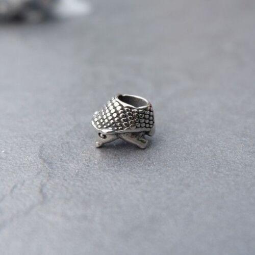 Dreadlock Beard Braid Bead Super Cute Mini Hedgehog Stainless Steel 5mm hole UK