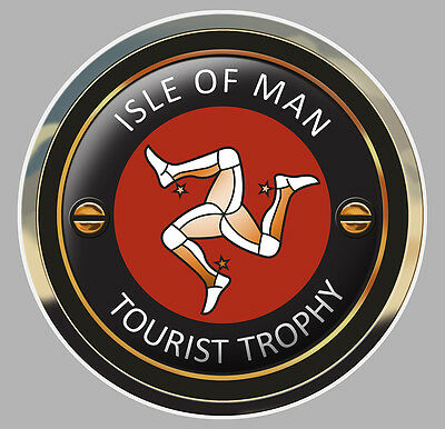 Badges, Insignes, Mascottes Hearty Isle Of Man Tourist Trophy Tt Ile De Man Biker 7,5cm Sticker Racing Track Ia072