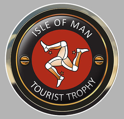 Automobilia Hearty Isle Of Man Tourist Trophy Tt Ile De Man Biker 7,5cm Sticker Racing Track Ia072 Badges, Insignes, Mascottes
