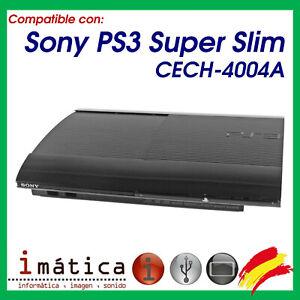 CARCASA-REPUESTO-SONY-PLAY-STATION-3-SUPER-SLIM-CECH-4004A-PS3-SUPERIOR-INFERIOR