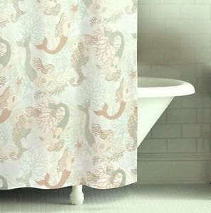 Charmant Image Is Loading MYSTIC ECHOES SHOWER CURTAIN TROPICAL MERMAID CORAL SHELL