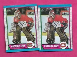 2-X-1989-90-OPC-17-CANADIENS-PATRICK-ROY-GOALIE-NRMT-MT-CARD-INV-C0123