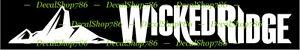 Wicked Ridge Crossbows Outdoor Hunting Vinyl Die-Cut Peel N/' Stick Decal