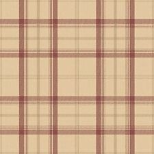 CAMBRIDGE PLAID WALLPAPER ROLLS - RED & GOLD - FD40532 - FINE DECOR CHECK TARTAN