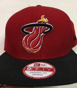 timeless design 47ea1 fddc3 Image is loading Miami-Heat-Men-039-s-New-Era-9FIFTY-