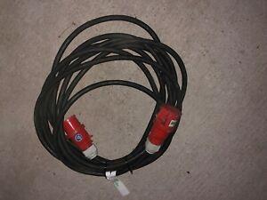 CEE Starkstromkabel 16A 5x2,5mm² mit Phasenwender Verlängerungskabel 20 Meter