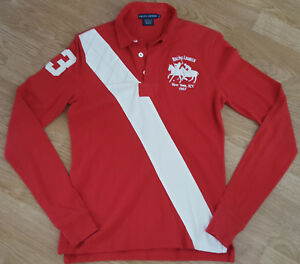 Ralph Size York Red Lauren 1967 New M Sleeve Top Long Jumper Rpz4rRq