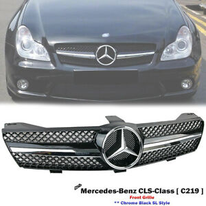 Front Chrome SL Grille For Mercedes Benz C219 CLS-Class CLS350 CLS500 2005-2008