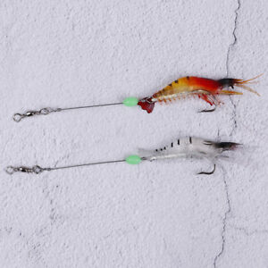 9cm-6g-Shrimp-Soft-Lure-Fishing-Artificial-Bait-With-Glow-Hook-Swively3