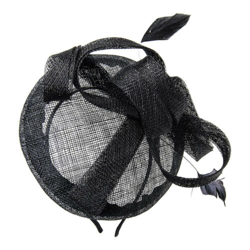 Blue Banana Black 2 Feather Ladies 50s Style Hairband//Headband Fascinator