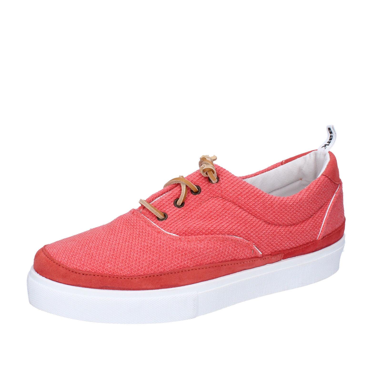 Herren schuhe BARK 44 EU sneakers koralle textil wildleder AG586-E
