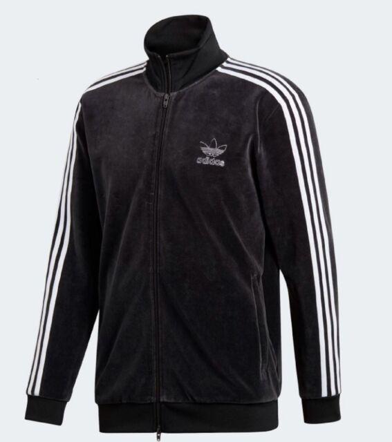 adidas Originals Velour BB TT Track Jacket Du7777 Black Mens Medium
