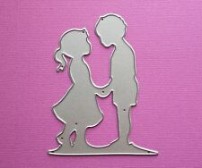 Die cutting - matrice de coupe - girl & boy - couple - amitie friendship