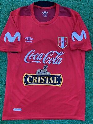 2018 Peru Training Soccer Jersey FPF Cristal Coca-Cola Futbol Peruano Size M
