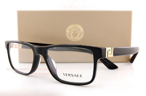 86de42c667 Image is loading Brand-New-VERSACE-Eyeglasses-Frames-3211-GB1-BLACK-