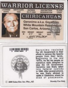 Indian-Warrior-GERONIMO-Native-American-Indian-Drivers-License-fake-id-card
