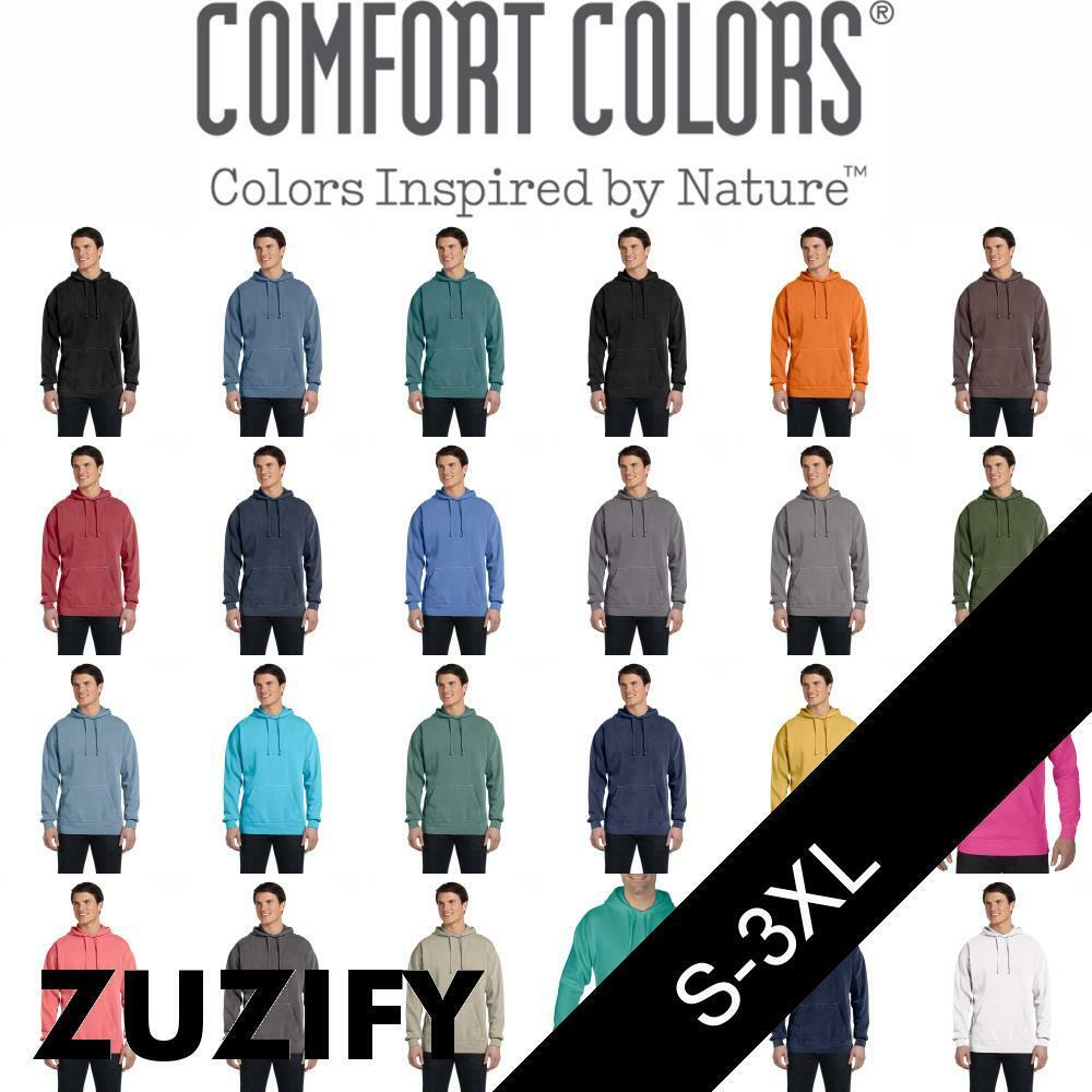 Comfort Farbes Garment-Dyed Pullover Hoodie. 1567