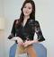 Verano-para-mujer-Floral-Casual-de-Gasa-Manga-a-Mitad-de-Superdry-holgado-Camiseta-Blusa-Camiseta miniatura 1